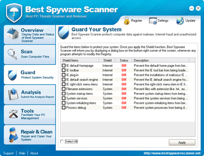 Best Spyware Scanner Real-time Guard off