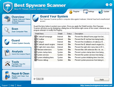 Best Spyware Scanner Real-time Guard on