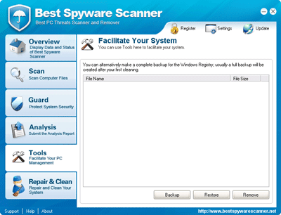 Best Spyware Scanner Registry Backup