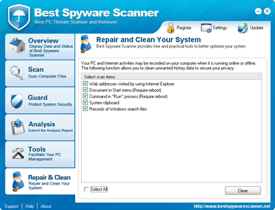 Best Spyware Scanner Traces Cleanup