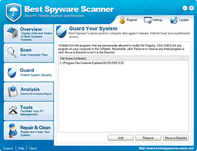 Best Spyware Scanner Whitelist