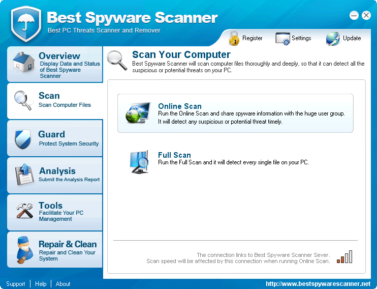 Best Spyware Scanner - Online Help